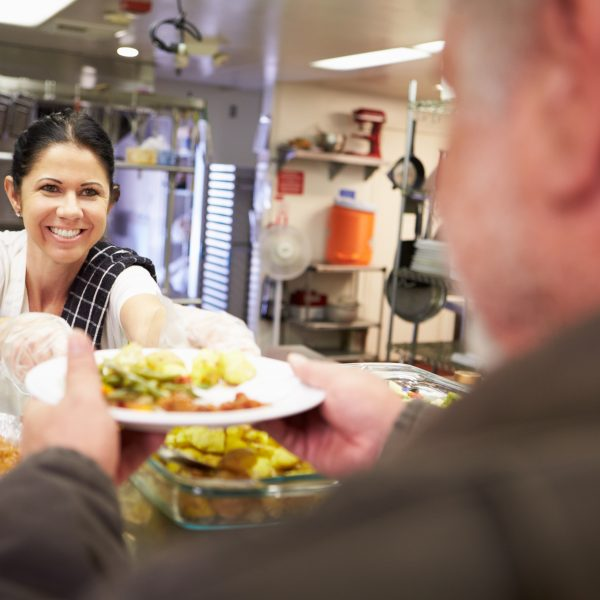 Kitchen Serving Food In Homeless Shelter realized worth employee volunteering employee engagement
